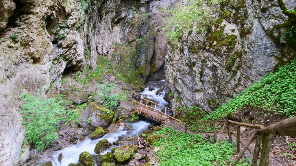 Wodospad Duf w Parku Narodowym Mavrovo - niedaleko od miejscowości Rostushe - od drogi trzeba przejść przyjemną górką ścieżką 1100 metrów pod sam 25 metrowy wodospad
