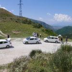 old road Saranda-Gjirokastra (SH78) - przerwa w trasie na jednej z przełęczy